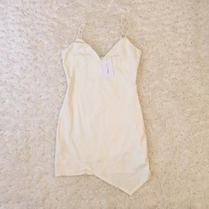 White bodycon dress (brand new with tags)